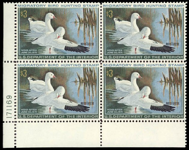 Price of US Stamps Scott Catalogue # RW37 - US$3.00 1970 Federal Duck Hunting. Daniel Kelleher Auctions, May 2015, Sale 669, Lot 3607