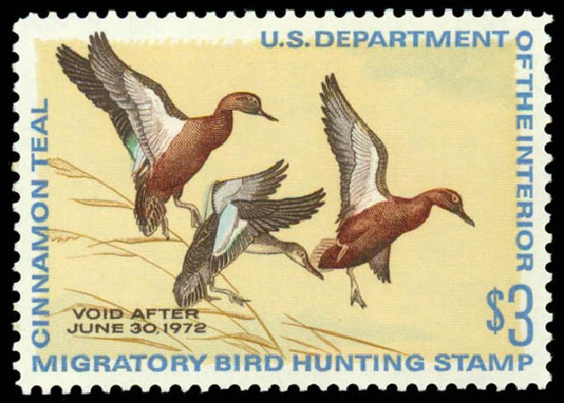 Costs of US Stamps Scott Catalog # RW38 - 1971 US$3.00 Federal Duck Hunting. Daniel Kelleher Auctions, May 2014, Sale 653, Lot 2370