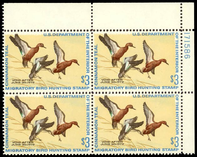US Stamp Price Scott Catalog RW38 - 1971 US$3.00 Federal Duck Hunting. Daniel Kelleher Auctions, May 2014, Sale 653, Lot 2526