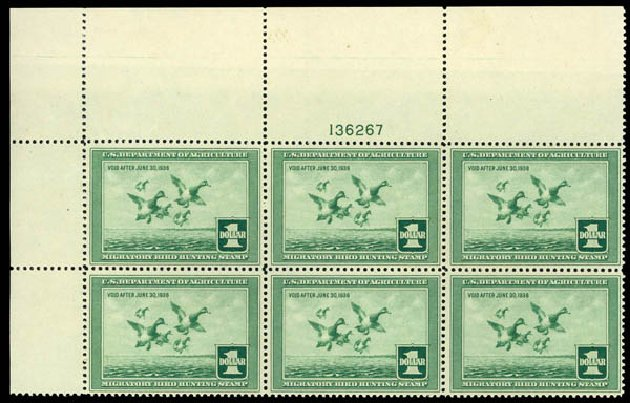 Prices of US Stamps Scott RW4 - 1937 US$1.00 Federal Duck Hunting. Daniel Kelleher Auctions, May 2014, Sale 653, Lot 2492