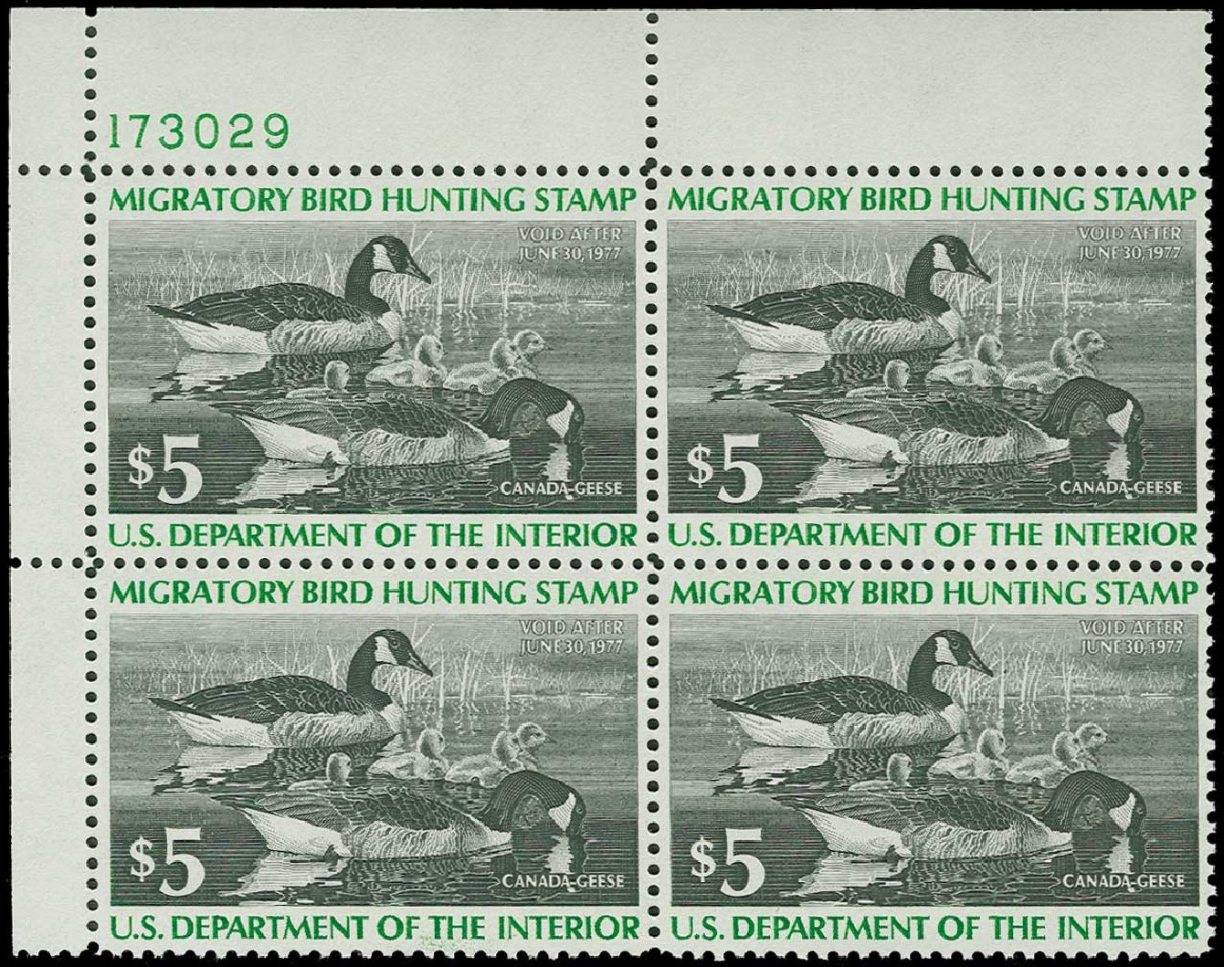 US Stamps Values Scott Cat. # RW43 - US$5.00 1976 Federal Duck Hunting. H.R. Harmer, Jun 2015, Sale 3007, Lot 3608
