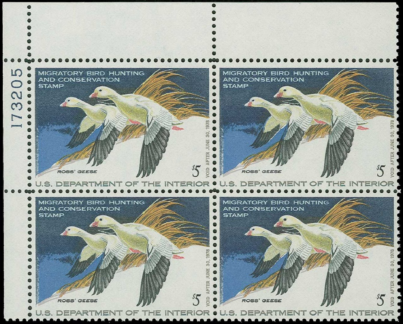 Cost of US Stamp Scott Catalog #RW44: 1977 US$5.00 Federal Duck Hunting. H.R. Harmer, Jun 2015, Sale 3007, Lot 3609