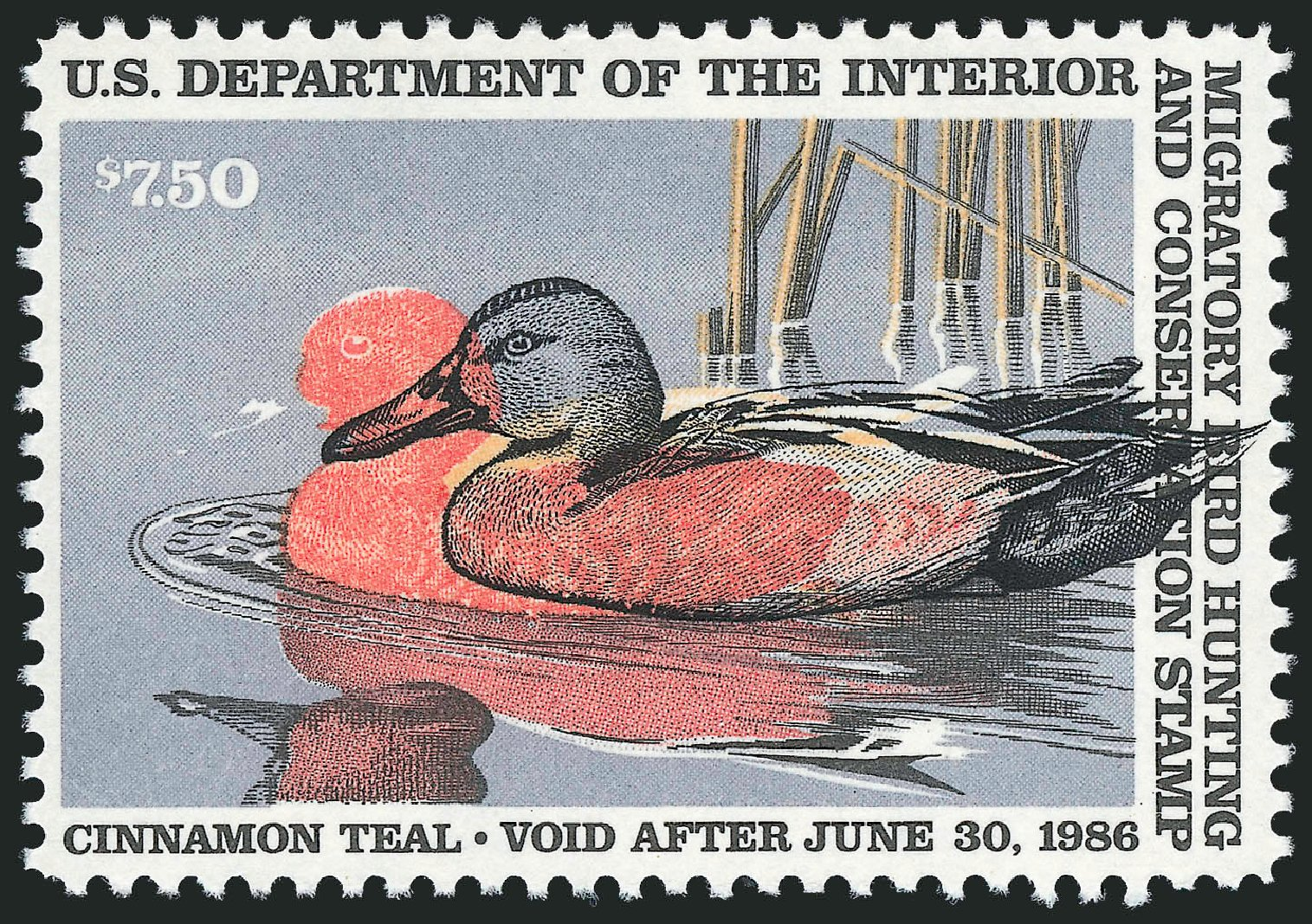 US Stamp Prices Scott Catalogue RW52 - US$7.50 1985 Federal Duck Hunting. Robert Siegel Auction Galleries, Sep 2009, Sale 976, Lot 2379