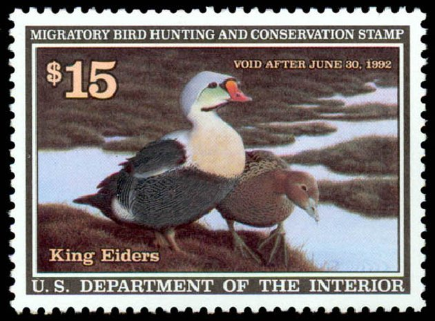 Price of US Stamps Scott # RW58: US$15.00 1991 Federal Duck Hunting. Daniel Kelleher Auctions, May 2014, Sale 653, Lot 2379