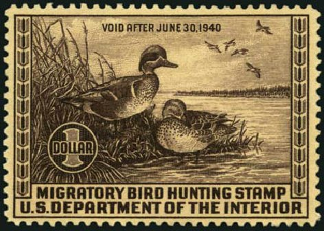 US Stamps Prices Scott Catalog # RW6: 1939 US$1.00 Federal Duck Hunting. Harmer-Schau Auction Galleries, May 2012, Sale 93, Lot 508