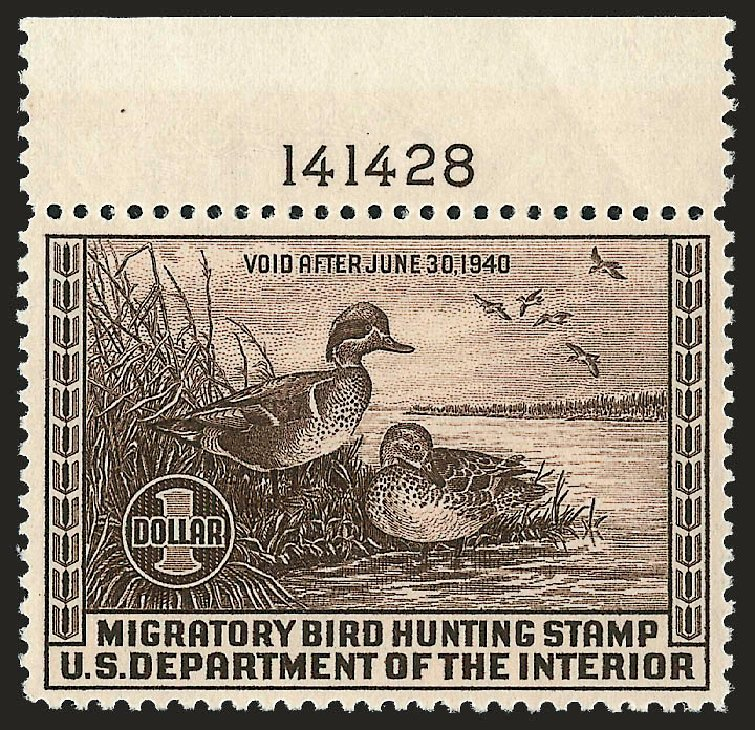 US Stamp Price Scott Catalogue RW6 - 1939 US$1.00 Federal Duck Hunting. Robert Siegel Auction Galleries, Sep 2008, Sale 962, Lot 3068