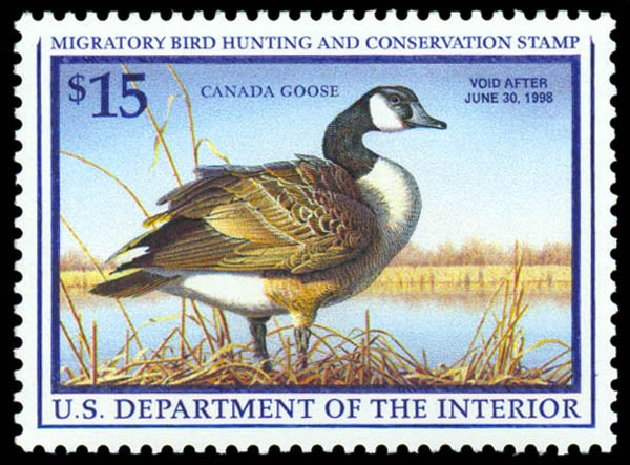 Price of US Stamp Scott Cat. # RW64 - 1997 US$15.00 Federal Duck Hunting. Daniel Kelleher Auctions, May 2014, Sale 653, Lot 2382