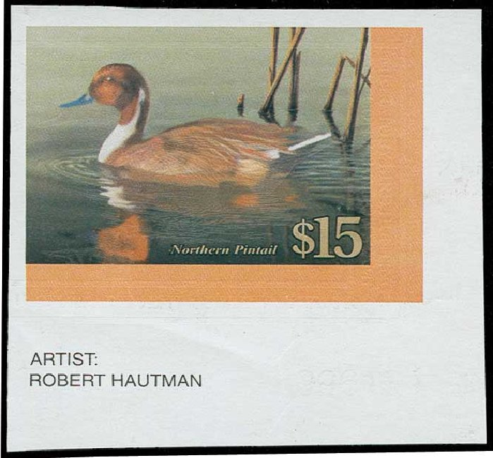Values of US Stamps Scott #RW68 - US$15.00 2001 Federal Duck Hunting. H.R. Harmer, Jun 2015, Sale 3007, Lot 3611