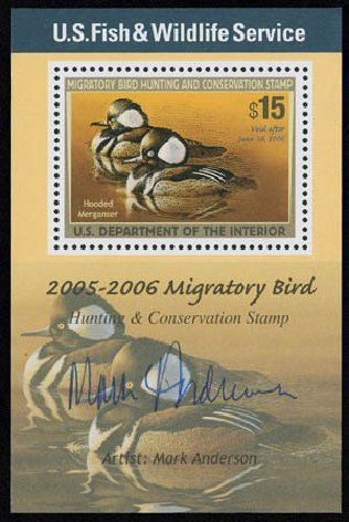 Price of US Stamps Scott Cat. # RW72 - US$15.00 2005 Federal Duck Hunting. Matthew Bennett International, Jun 2008, Sale 328, Lot 1450