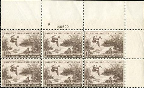 US Stamps Prices Scott Catalogue RW9 - 1942 US$1.00 Federal Duck Hunting. Spink Shreves Galleries, Jan 2015, Sale 150, Lot 285