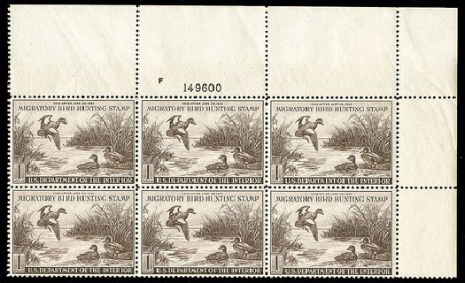 US Stamps Price Scott Catalog #RW9 - US$1.00 1942 Federal Duck Hunting. Spink Shreves Galleries, May 2014, Sale 148, Lot 406
